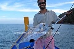 African Pompano Popper Fiskeri Thailand Khao-Lak