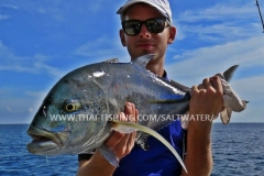 Bluefin Trevally Fiskeri Khao Lak Thailand