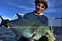 Bluefin Trevally Fiskeri Similan Islands Thailand