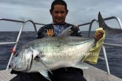 Giant Trevally Fiskeri Similan Islands Thailand