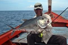 Giant Trevally Fluefiskeri Khao Lak Thailand