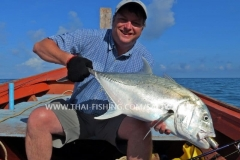Giant Trevally Popper Fishing Khao Lak Thailand