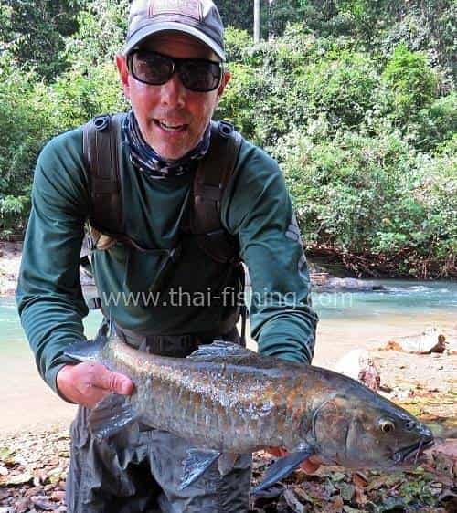 Blue Mahseer Fly Fishing Jungle River Thailand - Fishing Report 9